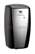 Technical Concepts TC SaniCell Wall Automatic Fixture Cleaning System - LED Dispenser (Battery & Refill Indicator) - Black/Chrome in Color