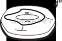 "Technical Concepts TC490322 4"" Domed Cover Trim Plate for Sienna Automatic Faucets - Polished Chrome"